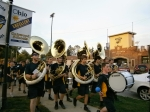 Oakwood band at Friday night's game