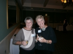 Pam Gregg Amon & Elaine Collier O'Neil at Moraine Dinner Saturday night