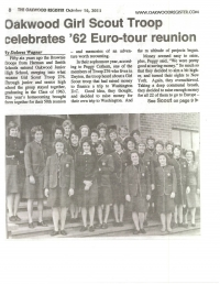 Oakwood Class of '63 Girl Scouts make news at Reunion!